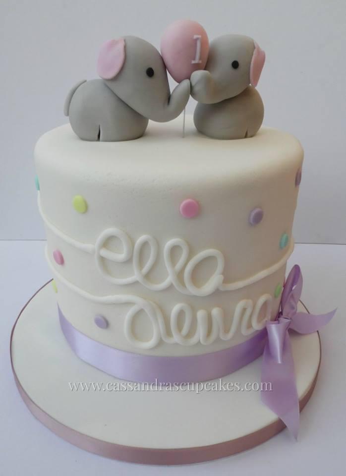 Cute confetti & elephant cake