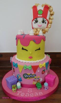 Shopkins two tier birthday cake