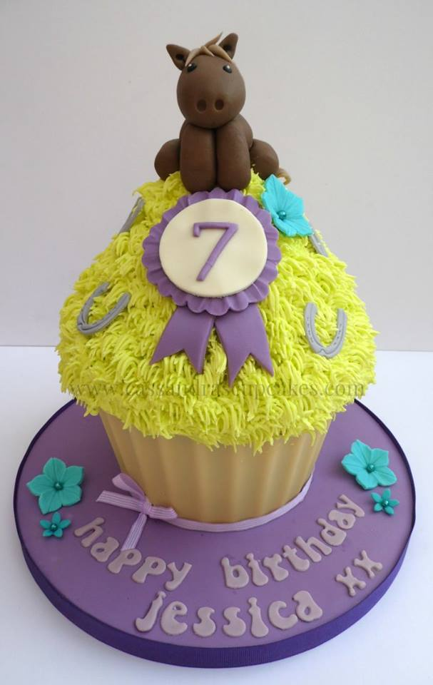 Horse themed Giant Cupcake