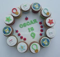 Running Themed Cupcake Board