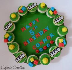 LEGO Themed Cupcake Board