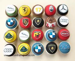 Car themed cupcakes