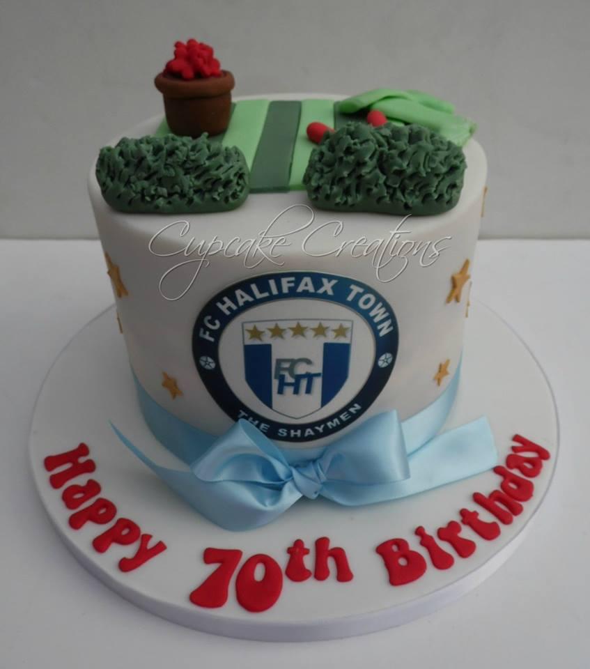70th Birthday Cake - Halifax Town