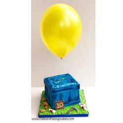 Fortnite supply drop birthday cake