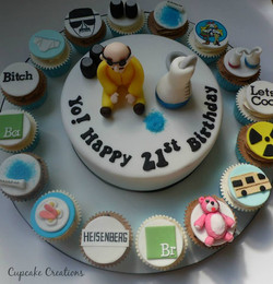 Breaking Bad Cake and Cupcakes