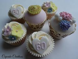 60th Bithday Cupcakes
