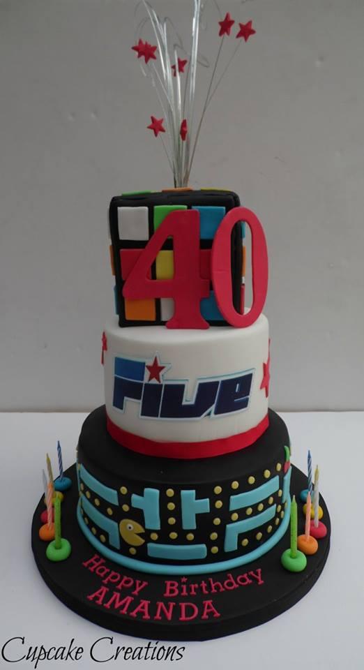 3 Tier 40th Birthday Cake