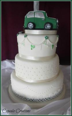 Bespoke Wedding Cake with Mini