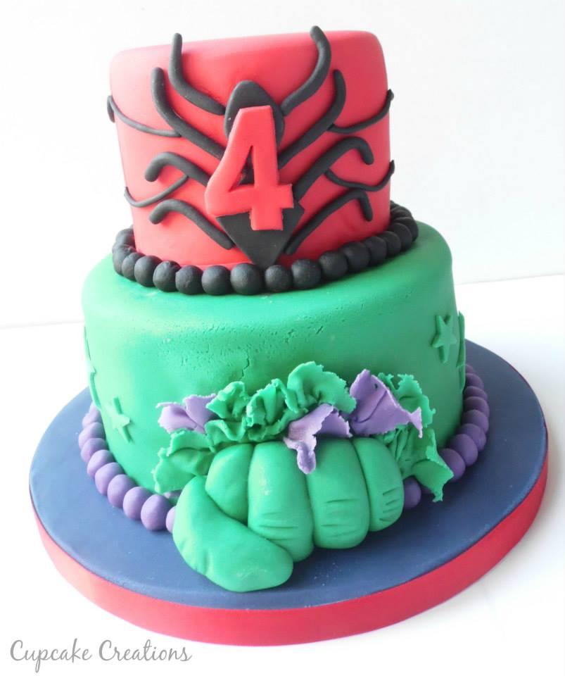 Superhero 2 Tier Birthday Cake