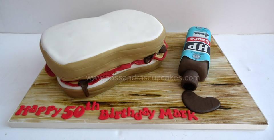 Bacon Sandwich Birthday Cake