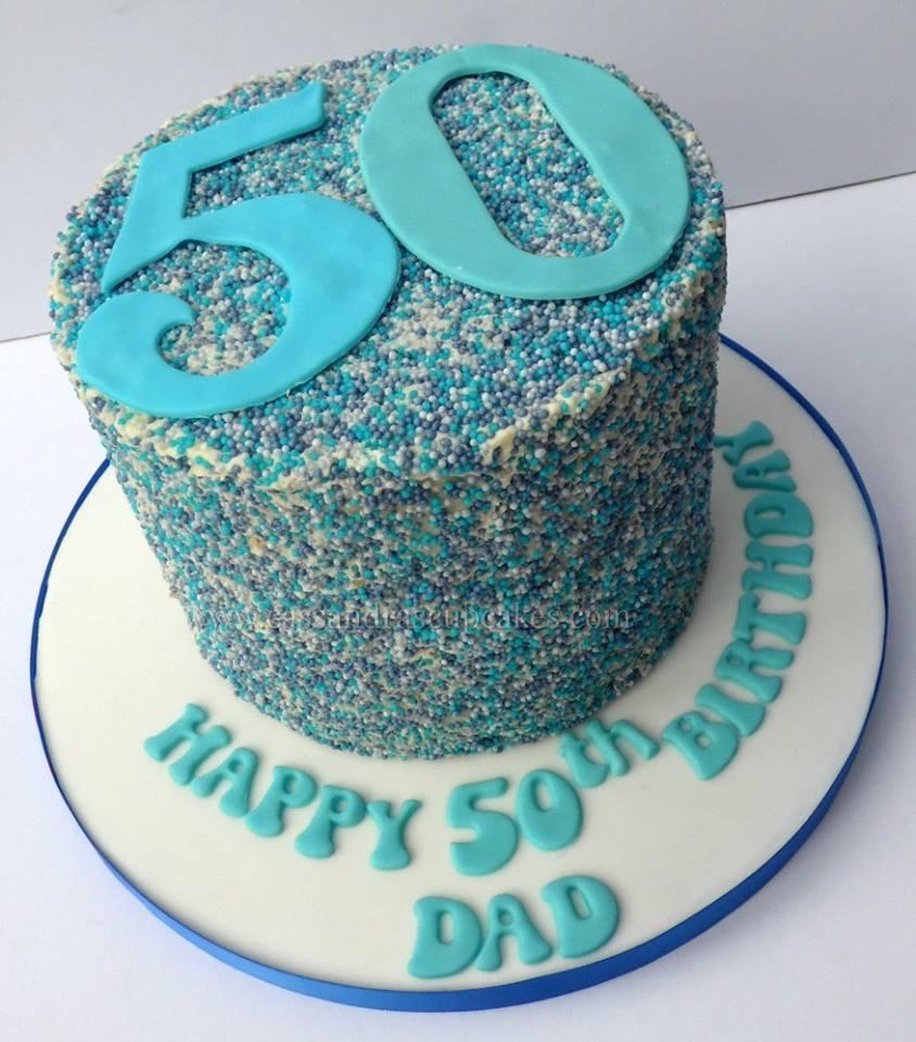 50th birthday sprinkle cake