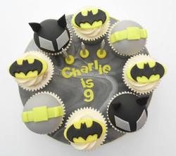 Batman themed cupcake board
