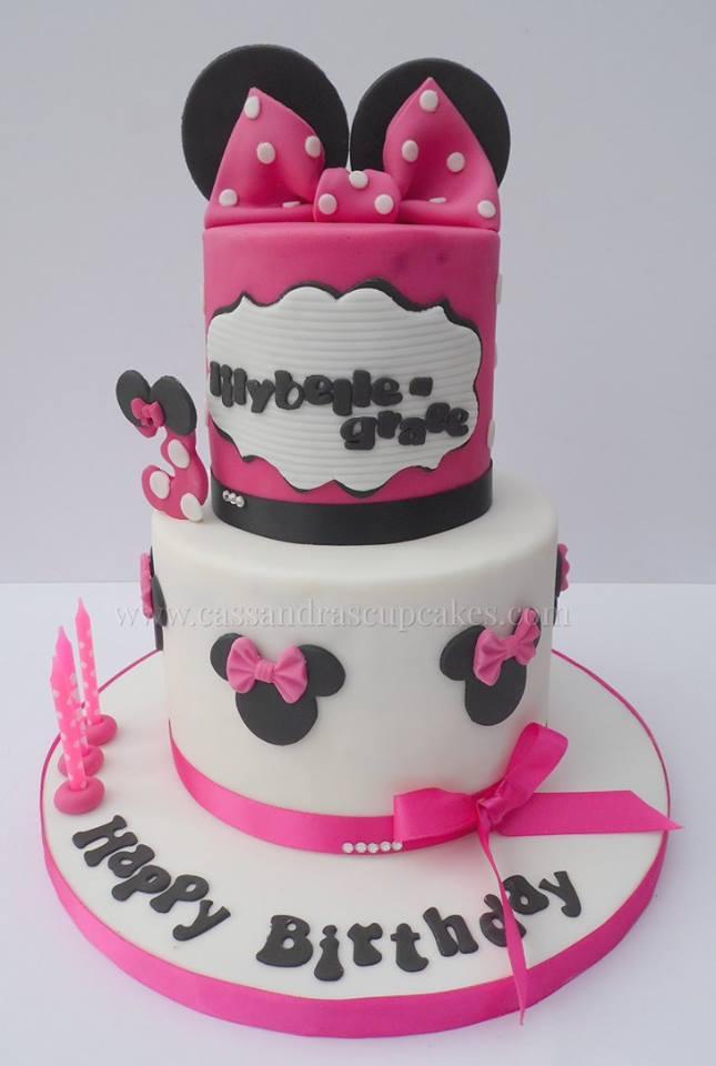 Minnie Mouse 2 tier birthday cake