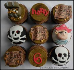 Pirate Theme Cupcakes
