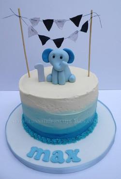 1st Birthday Ombre Cake