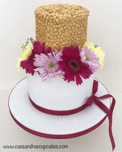 Ruby wedding dairy free anniversary cake