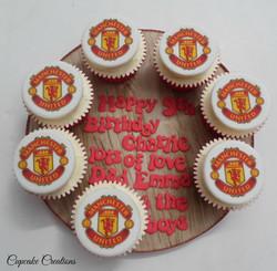Manchester United Theme Cupcake Board