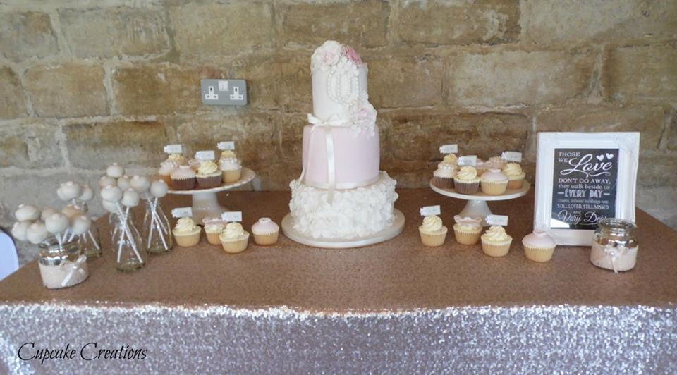 Vintage Wedding Cake & dessert table