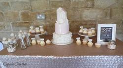 Vintage Wedding Cake & dessert table