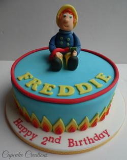 Firemen Sam birthday cake