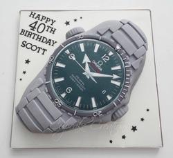 OMEGA Watch Birthday Cake