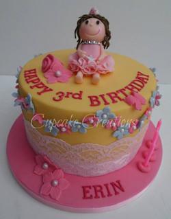 Fairy Themed 3rd Birthday Cake