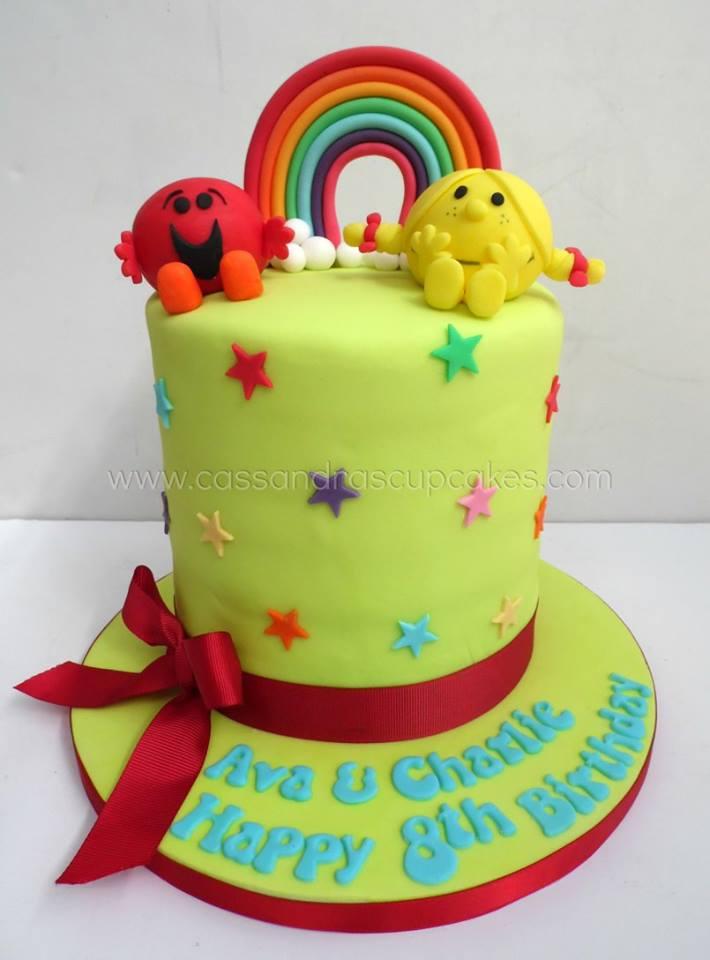 Mr Men & Little Miss Birthday Cake