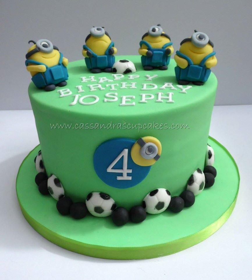 Minion Football Cake