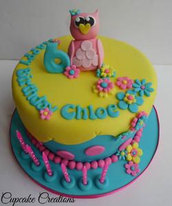 Owl Temed Birthday Cake