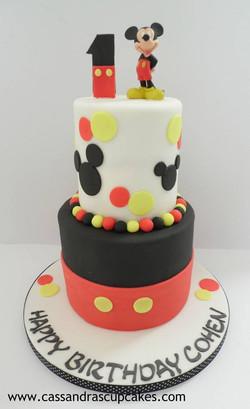 Mickey Mouse 1st birthday cake