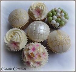 Vintage Golden Cupcakes