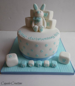 Rabbit Christening Cake