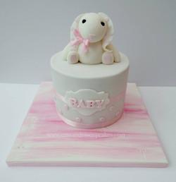 Bunny Love!! Baby shower cake
