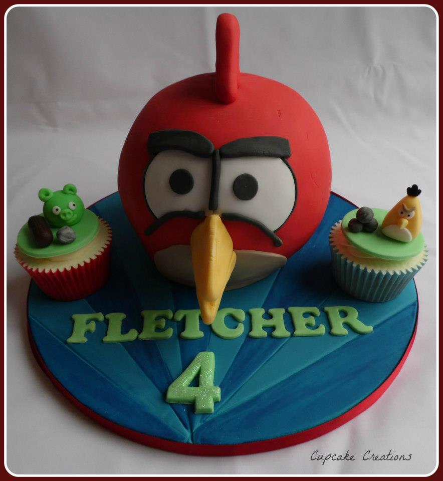 Angry Birds Birthday Cake 4