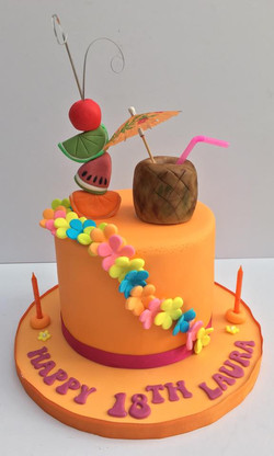18th Birthday Cocktail Cake