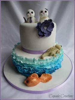 Bespoke Animal Wedding Cake