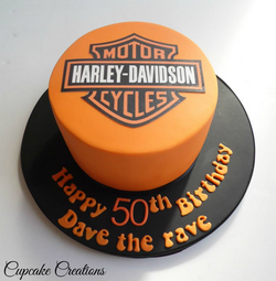 Harley Davidson 50th birthday cake
