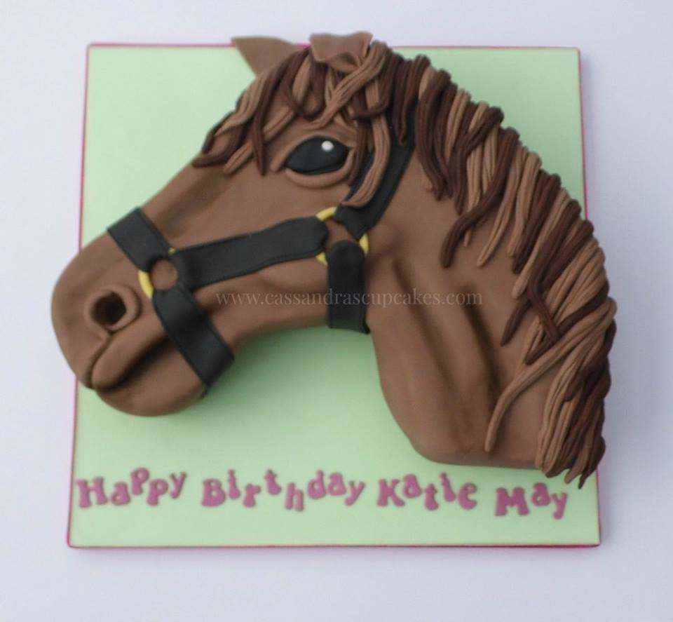 Hand carved horses head Birthday Cake