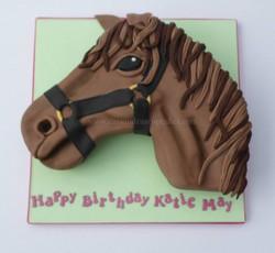 Hand carved horses head Birthday Cake