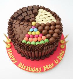 Chocolate overload sweetie cake
