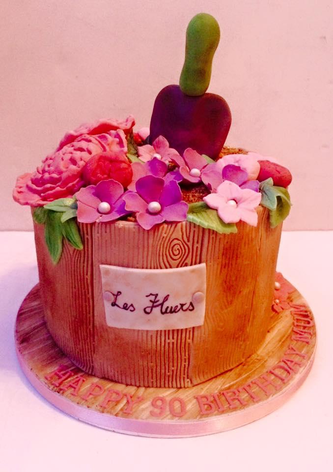 Flower Tub Cake