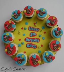 Build a Bear Themed Cupcake Board