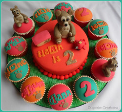 Bear Cake & Cupcakes