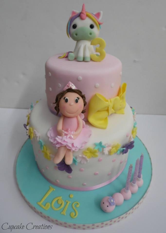 Unicorn & Little Princess Birthday Cake