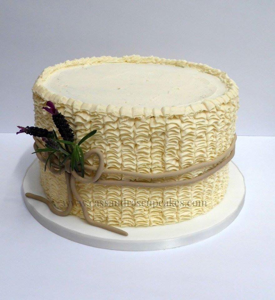 Elegant Buttercream Ruffle Wedding Cake