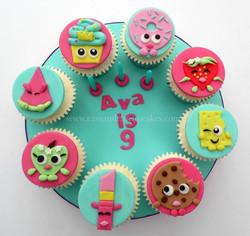 Shopkins themed cupcake board