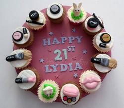 MAC themed cupcake board