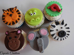Zoo Theme Cupcakes