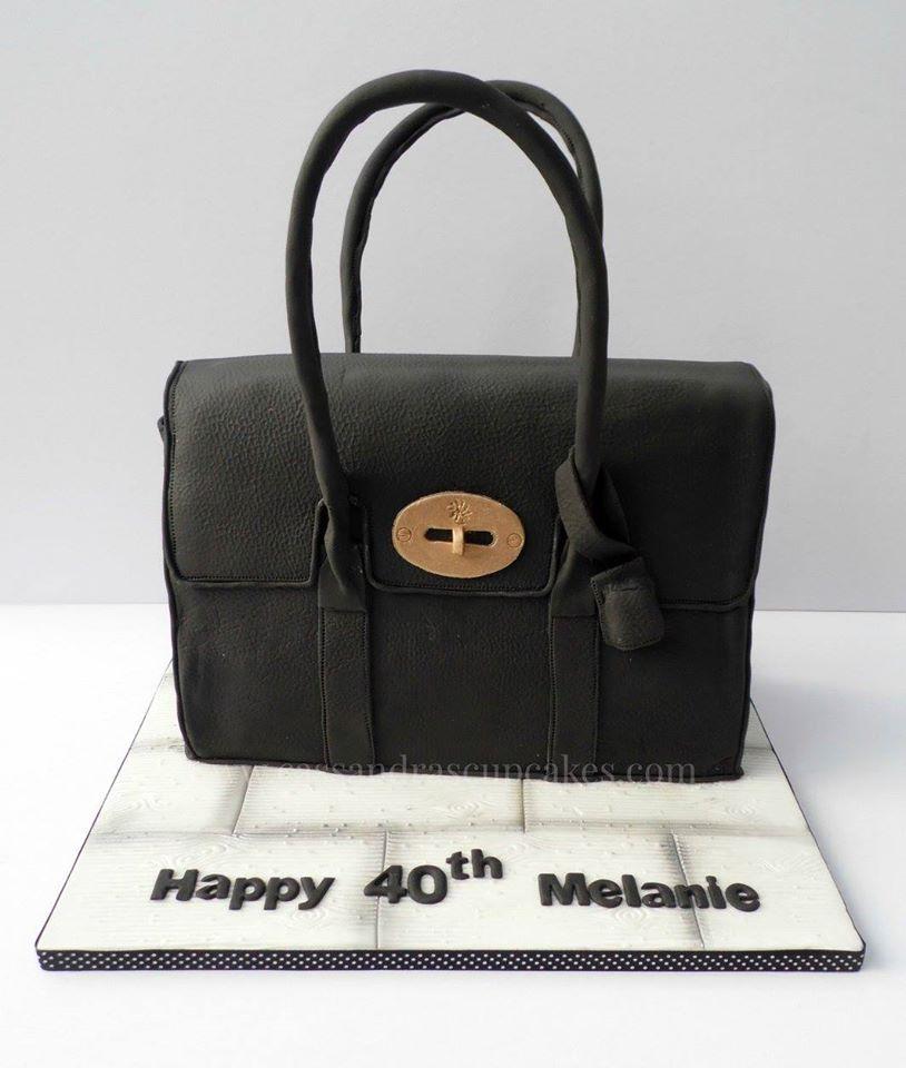 Mulberry Bayswater handbag cake