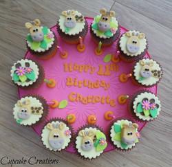 Giraffe Theme Cupcakes
